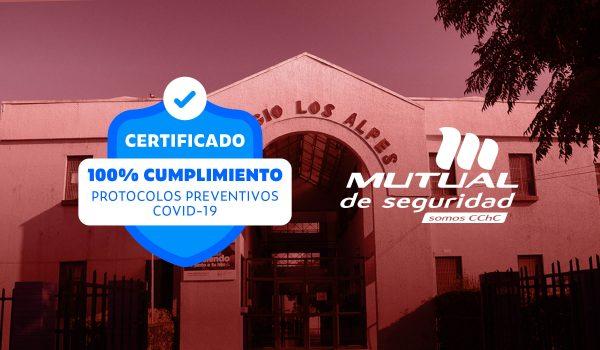 Colegio Los Alpes Recibe Sello Mutual de Seguridad Covid-19